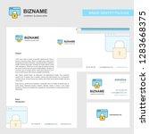 locked website  business... | Shutterstock .eps vector #1283668375