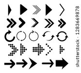 arrows vector collection. set... | Shutterstock .eps vector #1283669878