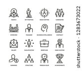 head hunting line icon set | Shutterstock .eps vector #1283673022