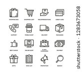 e commerce line icon set | Shutterstock .eps vector #1283673058