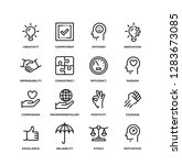 core values line icon set | Shutterstock .eps vector #1283673085