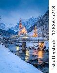 beautiful twilight view of...   Shutterstock . vector #1283675218