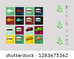 vegetarian menu for cafe and... | Shutterstock .eps vector #1283675362
