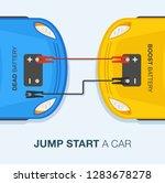 how to jump start a car. flat... | Shutterstock .eps vector #1283678278