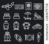 set of black white travel... | Shutterstock .eps vector #1283679718