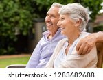 senior couple sitting together... | Shutterstock . vector #1283682688