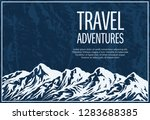 mountaineering and travelling... | Shutterstock .eps vector #1283688385
