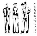 stylish fashion models. pretty... | Shutterstock .eps vector #1283689618