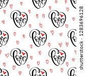 abstract seamless love pattern. ... | Shutterstock .eps vector #1283696128