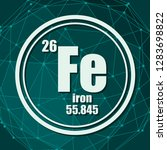 iron chemical element. sign... | Shutterstock .eps vector #1283698822