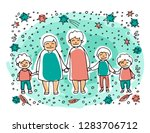 elderly gay woman couple wit... | Shutterstock .eps vector #1283706712