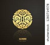 ornate decorative zodiac sign....   Shutterstock .eps vector #1283714578