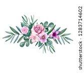 watercolor tender bouquet | Shutterstock . vector #1283714602
