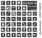 outdoor and survival   icon set | Shutterstock .eps vector #1283714878