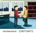man looking for a new job. real ... | Shutterstock .eps vector #1283718472