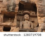 Ancient statues of Jain Tirthankaras in Gopachal Parvat, Gwalior, India, The Gopachal rock cut Jain monuments