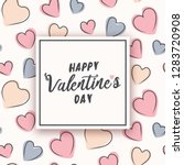 valentine's day design with... | Shutterstock .eps vector #1283720908