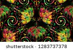 seamless repeat pattern ... | Shutterstock . vector #1283737378