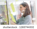 businesswoman making strategies ...   Shutterstock . vector #1283744332