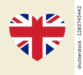 vector uk flag heart | Shutterstock .eps vector #1283745442