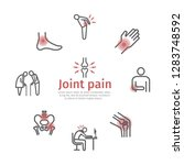 joint pain banner. icons set.... | Shutterstock .eps vector #1283748592