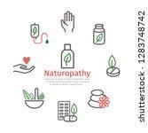 alternative medicine banner.... | Shutterstock .eps vector #1283748742