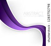 purple curve line vector... | Shutterstock .eps vector #1283752798