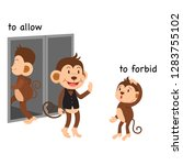 opposite to allow and to forbid ... | Shutterstock .eps vector #1283755102
