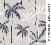 tropical palm tree black and... | Shutterstock .eps vector #1283760355