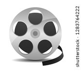 film reel with cinema tape icon ... | Shutterstock .eps vector #1283764222