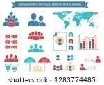 collection of infographic... | Shutterstock .eps vector #1283774485