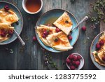 french crepe suzette for... | Shutterstock . vector #1283775592