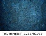 dark blue concrete wall as... | Shutterstock . vector #1283781088