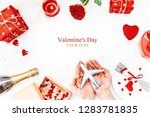 valentine's day. a beautiful... | Shutterstock . vector #1283781835