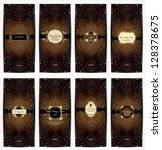 vector set of golden ornate... | Shutterstock .eps vector #128378675