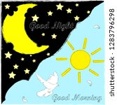 good night and good morning... | Shutterstock .eps vector #1283796298