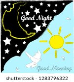 good night and good morning... | Shutterstock .eps vector #1283796322