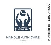 handle with care icon vector on ... | Shutterstock .eps vector #1283798302