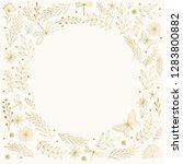 golden hand drawn summer card... | Shutterstock .eps vector #1283800882
