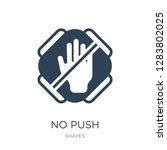 no push icon vector on white... | Shutterstock .eps vector #1283802025