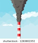 smoking factory pipe against... | Shutterstock .eps vector #1283802352
