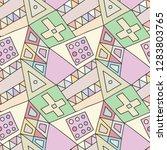 seamless vector pattern.... | Shutterstock .eps vector #1283803765