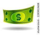 dollar bill in the shadow | Shutterstock .eps vector #1283813608