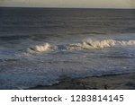 waves in a ocean swim to shore   Shutterstock . vector #1283814145