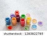bright colourful powdered...   Shutterstock . vector #1283822785
