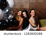 party time of three beautiful... | Shutterstock . vector #1283830288