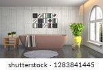 bathroom interior. 3d... | Shutterstock . vector #1283841445