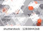 seamless urban geometric grunge ... | Shutterstock .eps vector #1283844268
