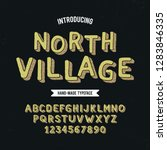 vintage 3d modern alphabet.... | Shutterstock .eps vector #1283846335