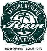special reserve imported rum... | Shutterstock .eps vector #128384948